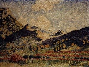 Henri Edmond Cross - Study for the Small Maures Mountains, 1909