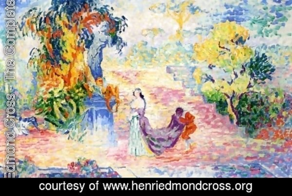 Henri Edmond Cross - Woman in the Park, 1909