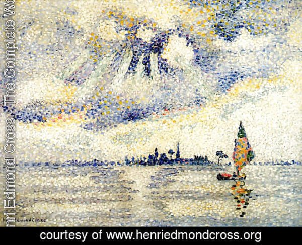 Henri Edmond Cross - Sunset on the Lagoon, Venice, c.1903-04