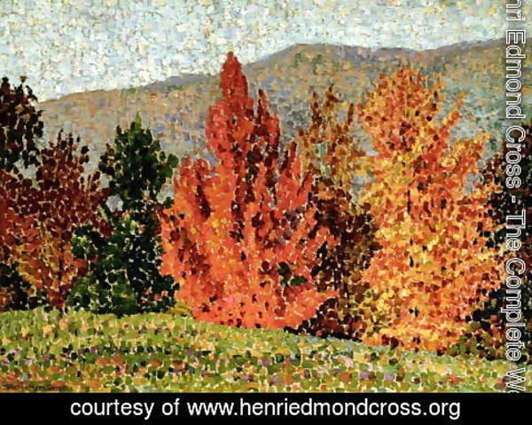 Henri Edmond Cross - Autumn Landscape, c.1903