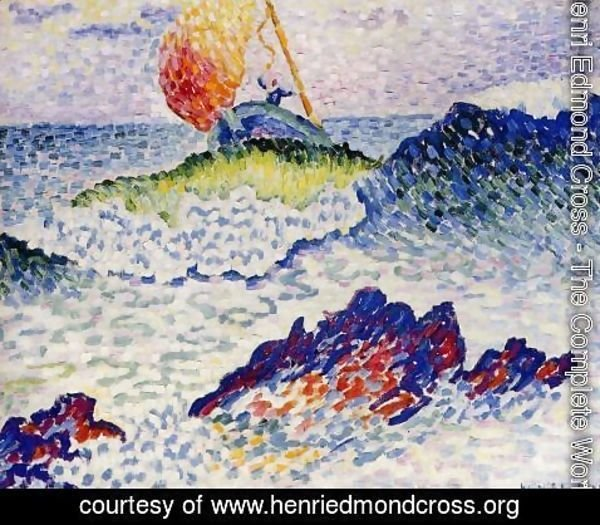 Henri Edmond Cross - The Shipwreck, 1906-07