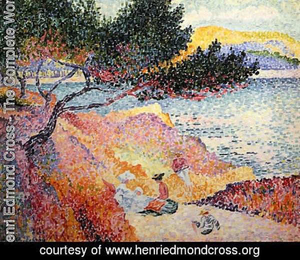 Henri Edmond Cross - La Plage de Saint-Clair, 1906-07