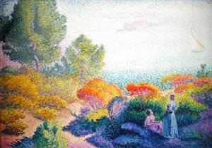 Henri Edmond Cross - Landscape with Two Women, 1895