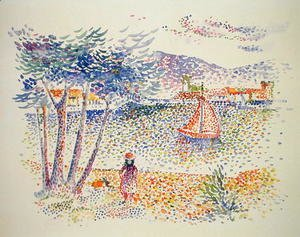 Henri Edmond Cross - Sailing Boats at the Seaside