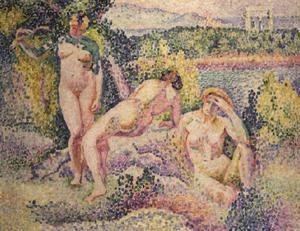 Henri Edmond Cross - Three Nudes, 1906