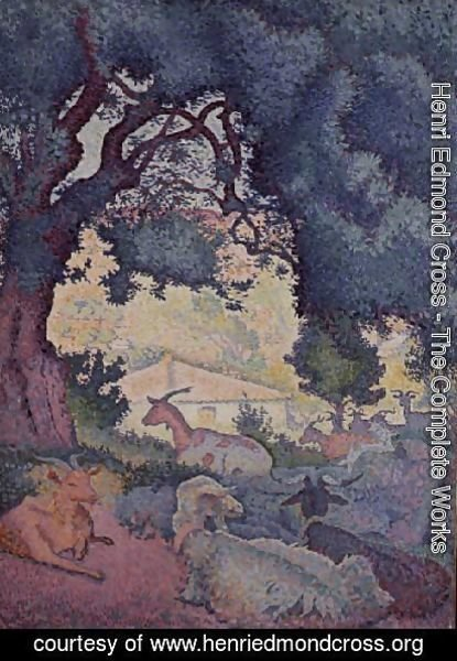 Henri Edmond Cross - Landscape with Goats, 1895