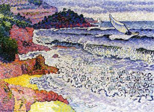 Henri Edmond Cross - The Choppy Sea, 1902-3