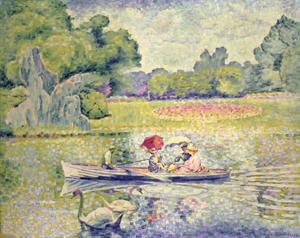 Henri Edmond Cross - The Promenade in the Bois de Boulogne, c.1906