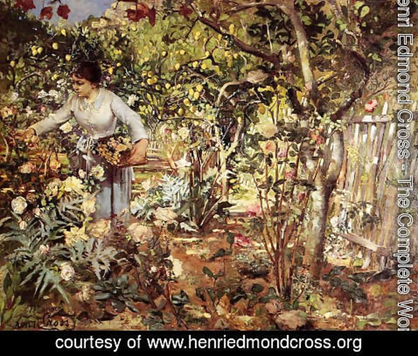 Henri Edmond Cross - Corner of the Garden in Monaco