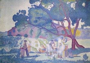 Henri Edmond Cross - The Farm, Morning