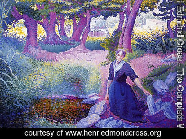 Henri Edmond Cross - The Washerwoman