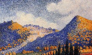 Henri Edmond Cross - Landscape, the Little Maresque Mountains