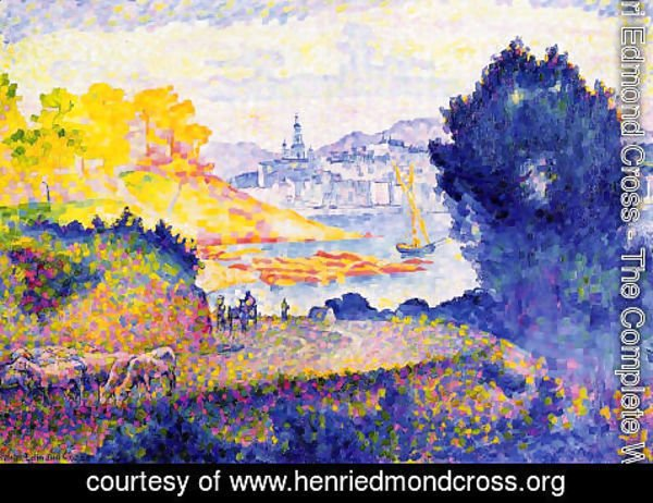 Henri Edmond Cross - View of Menton
