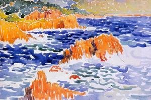 Henri Edmond Cross - Rocks at Trayas