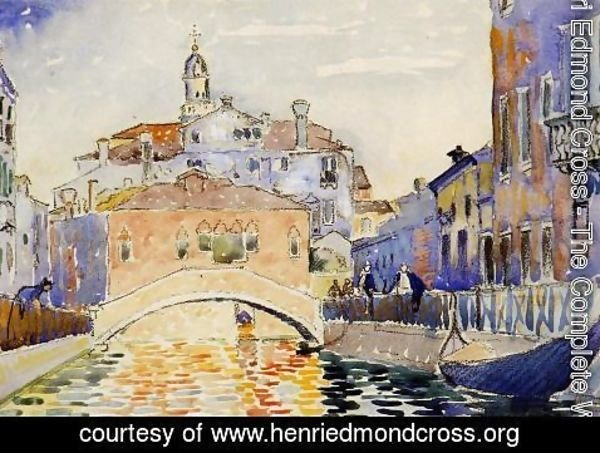 Henri Edmond Cross - Venetian Canal