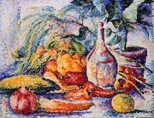 Henri Edmond Cross - Still Life with Bottle of Wind