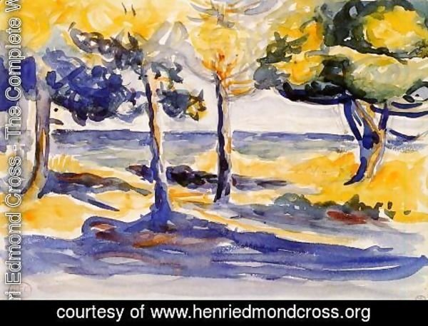 Henri Edmond Cross - Trees by the Sea