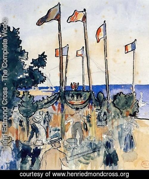 Henri Edmond Cross - The Fourth of July by the Sea