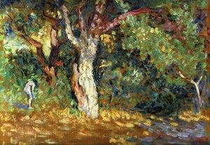 Henri Edmond Cross - Study for 'In the Woods with Female Nude'