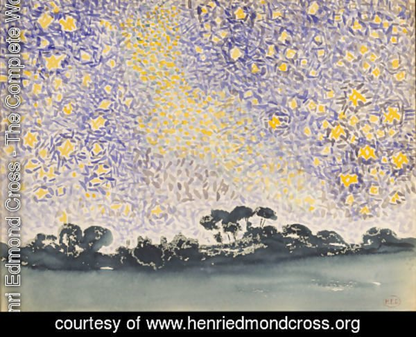 Henri Edmond Cross - Landscape with Stars