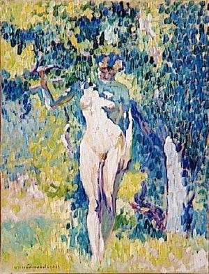 Henri Edmond Cross - Nude in a Garden