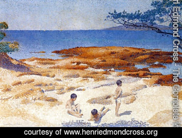 Henri Edmond Cross - Beach at Cabasson