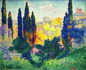 Henri Edmond Cross - Cypress In Cagnes
