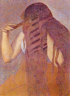 Henri Edmond Cross - Woman Combing her Hair 1892