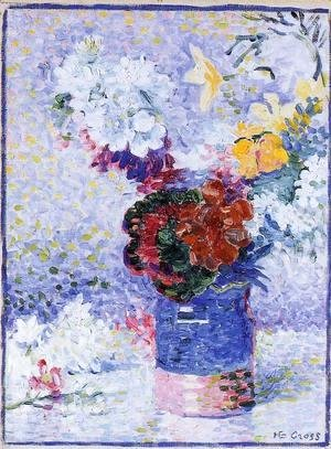 Henri Edmond Cross - Flowers In A Glass