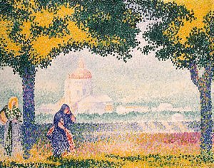 Henri Edmond Cross - The Church of Santa Maria degli Angeli near Assisi 1909